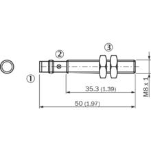 M8 3 pin conn flush Inductive PNP N/O