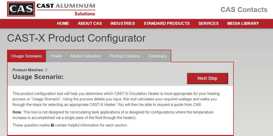 CAST-X ONLINE CONFIGURATOR