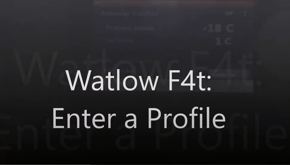 Entering a profile on F4T