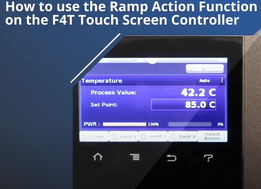 Ramp Action function F4T