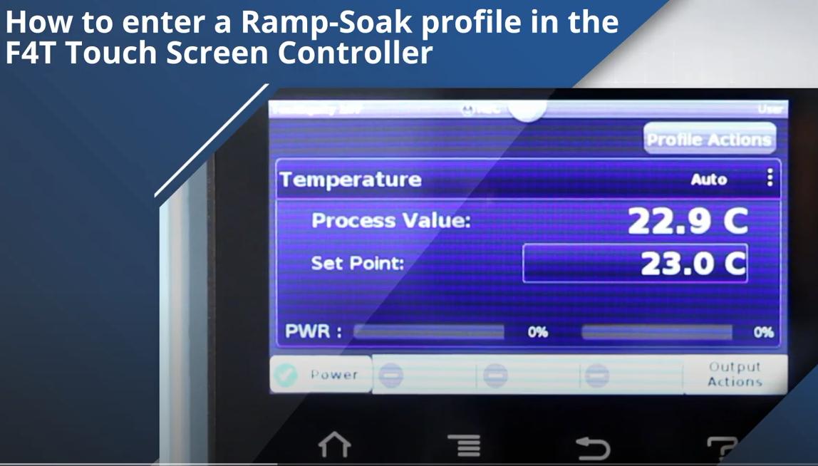 Setting ramp soak profile F4T